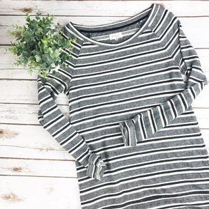 Lou & Grey | Striped Woven Sweater